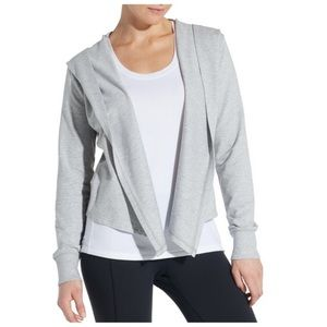 Calia by Carrie Underwood grey cozy open cardigan